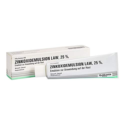 Zinkoxidemulsion LAW 25{526e13e2b2e0e1a54ab97153b3b3824f6d2c80252e588b958dade4eeb1a5e693} Hautprotektivum, 100 g Lösung