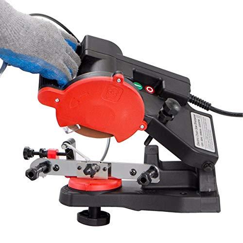 85W Mini Bench Mount Electric Chainsaw Grinder Sharpener w/Brake for Sharpening Oregon Husqvarna Stihl Echo Chain Saw