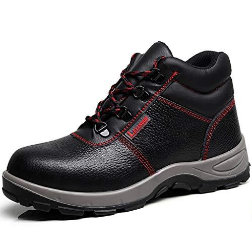 Zapatos de seguridad Entrenador de seguridad  Hombres trabajan zapatos casuales  Botas de tobillo impermeable de cuero de puntera de acero  Mujeres antideslizantes industriales y de construcción calza