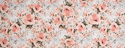HomeLife Tappeto Cucina Antiscivolo Lavabile Made in Italy [Cm 58X115] | Passatoia Moderna in Ciniglia | Tappeto Runner Lungo Colorato con Stampa Digitale con Fantasia a Fiori Rosa [Cm 58X115]