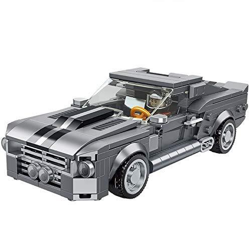 Vehículo de ingeniería Coche de Carreras Forded Mustang Gt500 Supercar Coches Deportivos Moc Bloques de construcción Conjuntos Figuras Ladrillos Kit de Modelo clásico Juguetes para niños