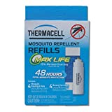 Thermacell Max Life Mosquito Repellent Refills, 48-Hour Pack; Mat Lasts 3x Longer than Ori...