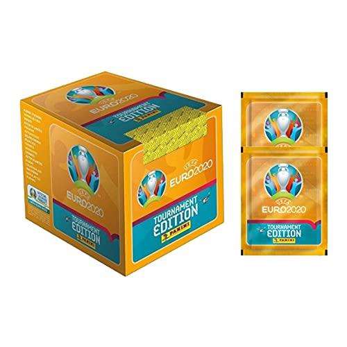 2020 Panini Euro Tournament Edition Stickers - 50-Pack Box + 2 Bonus Packs (Total of 260 Stickers)