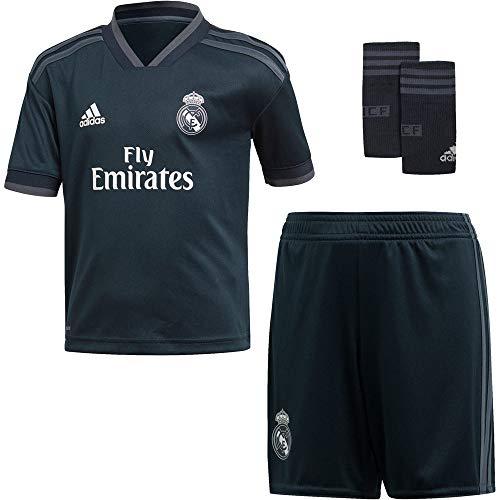 adidas 18/19 Real Madrid Away Conjunto, Unisex bebé, Gris (ónitéc/onifue/Blanco), 92