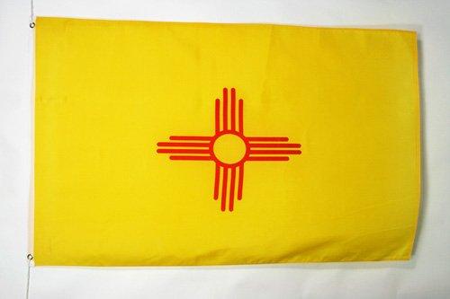 AZ FLAG Flagge New Mexico 150x90cm - Bundesstaat New Mexico Fahne 90 x 150 cm - flaggen Top Qualität