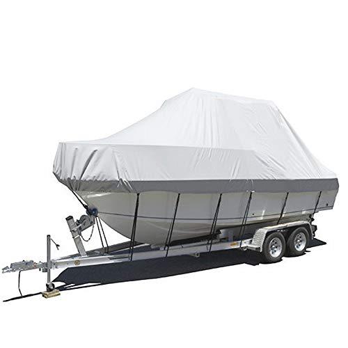 LILYSHOP Bootsabdeckung, Heavy Duty 600D Oxford Tuch Wasserdicht Boot Persenning Schutz Plane Abdeckung für Fisch-Ski V-Rumpf Schnellboot Boot,20 * 22ft