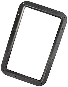 JR Products 11021 Black RV Deluxe Entry Door Window Frame