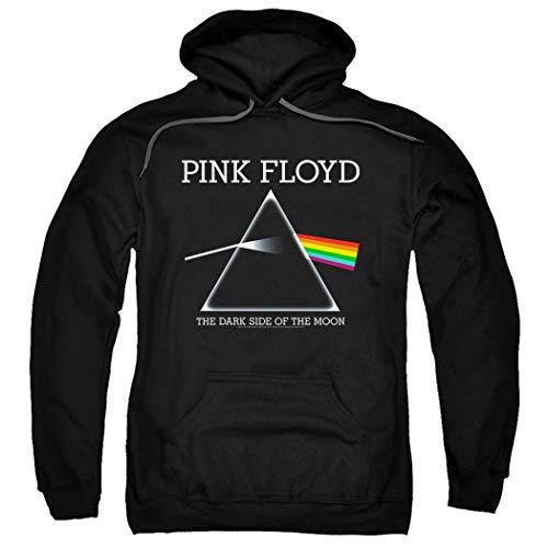 Popfunk Pink Floyd Dark Side of The Moon Album Pullover Hoodie Sweatshirt & Stickers (Medium)