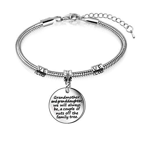 Awyuan Grandmother Granddaughter Jewellery Snake Bracelet Bangle for Women Girls
