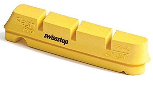 4 Zapatas Freno Carretera Swisstop Flash Pro Compatible Shimano/Sram Carbono Amarillo