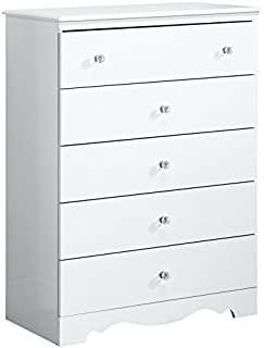South Shore 3550035 Crystal 5-Drawer Chest, Pure White