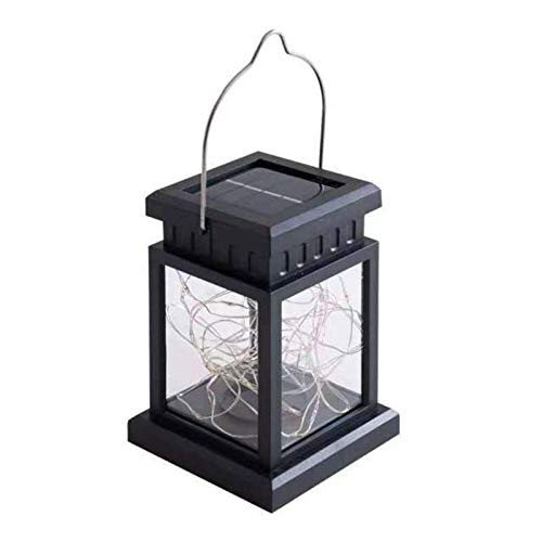 MOOVGTP Solar Lights Outdoor Hanging Lanterns, Solar Lanterns Waterproof Solar Table Lamp with 30 Warm White LEDs Solar Pathway Lights for Garden Patio Landscape Decoration