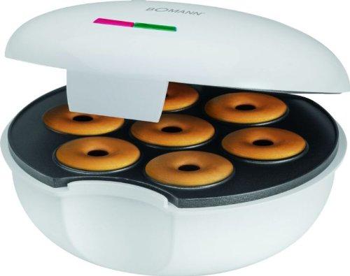 Donut-Maker Bagel-Maker mit Backampel für 7 Donuts/Bagel Waffeleisen Donuts-Gerät (sparsame 900 Watt + Antihaftbeschichtung)