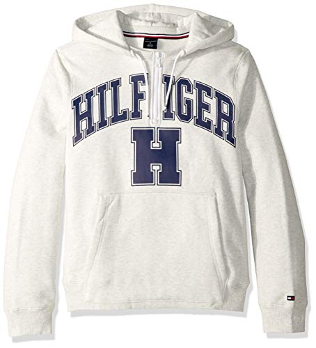 Tommy Hilfiger Herren Hoodie Sweatshirt with Extended Zipper Pull Kapuzenpulli, Ice Grey Heather, X-Groß