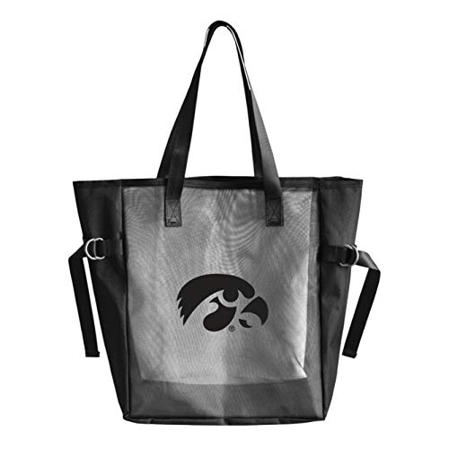 "Littlearth Productions NCAA Unisex Erwachsene NCAA Tasche aus Netzstoff, wiederverwendbar, Schwarz mit Team-Logo aus Vinyl, Unisex-Erwachsene, schwarz, Measures: 15"" Height x 13"" Wide x 6"" Deep"