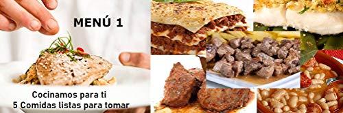 LIVANIA - Menu 1, 5 comidas listas para tomar, Olvídese de cocinar y de controlar lo que come. Puede llevarlo fácilmente al trabajo. Comida Sana a Domicilio.