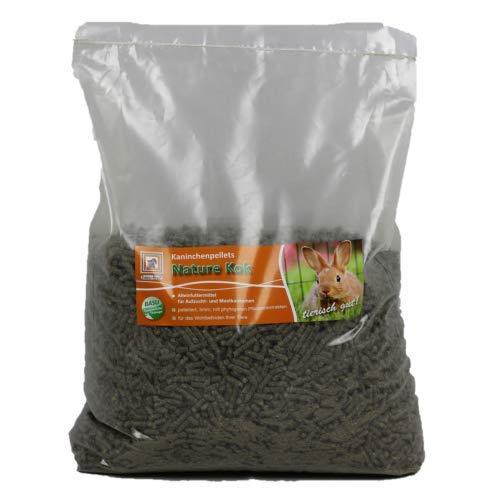 BASU Kaninchenpellets Nature Kok Kaninchen Futter Pellets 5 mm mit phytogenen Pflanzenextrakten gegen Kokzidiose 7 kg