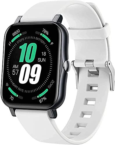 Reloj Inteligente con presión Arterial/oxígeno de Sangre/Monitor de Ritmo cardíaco Calorie Fitness Tracker IP68 Reloj Deportivo Impermeable, Adecuado para iOS Androide (Color : H)