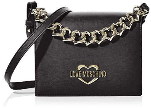 Love Moschino Jc4043pp1a, Borsa a Mano Donna, Nero (Nero), 8x16x20 cm...