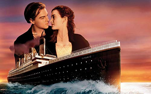 lcyab 1000 Piece Wooden Puzzle-Titanic Eternal Love Movie Poster-Personality Creative Family Education Into Children'S Stress Relief Puzzle Game