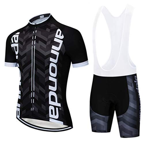 Gnaixyc Traje Equipacion Ciclismo Hombre Verano, Ciclismo Maillot Hombres Jersey + 9D Gel Pantalon/Culote Bicicleta para MTB Ciclista Bici,A2,4XLarge