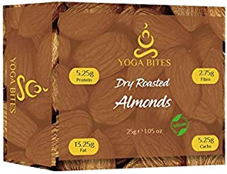 Yogabites Dry Roasted Almonds-25gm(Pack of 10)