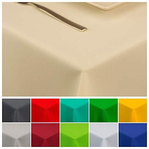 StoffTex Tischdecke Tischläufer Tischtuch Tischwäsche Tischdekoration Tafeltuch (Ecru, 100 x 100 cm)
