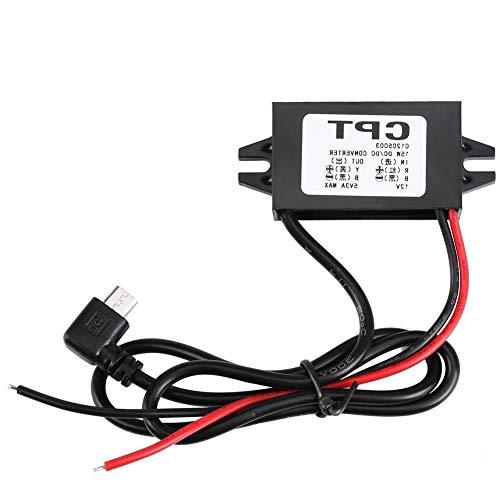 Convertidor de Corriente CC a CC de 12 V a 5 V 3 A, Adaptador Micro USB, Resistente al Agua, Conector de Voltaje, regulador de alimentación, módulo de Fuente de alimentación