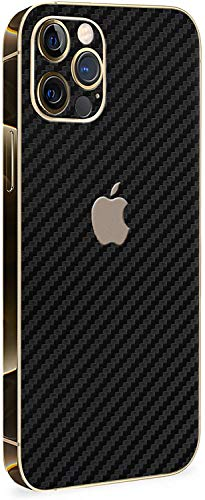 Normout iPhone 12 Pro Max Schutzfolie Rückseite Carbon Black - 2X iPhone 12 Pro Max Skin Rückseite, inklusive 2X iPhone 12 Pro Max Kameraschutz Folie - Schützt vor Kratzern & Fingerabdrücken