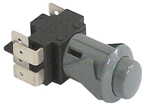 Elframo drukknop voor vaatwasser BD14, C33 grijs 250V 2CO 2-polige aansluiting platte stekker 6,3 mm inbouwmaat 17x13mm 16A IP40