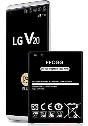 LG V20 Battery,[Upgraded] FFOGG 4200mAh BL-44E1F Li-Polymer Replacement Battery for LG V20 BL-44E1F H910 H918 LS997 US996 VS995/V20 BL-44E1F