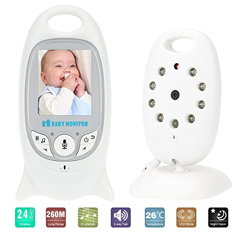 KKmoon VB601 Baby Monitor 2.0in LCD Inalámbrica de 2,4 GHz con 8IR LE