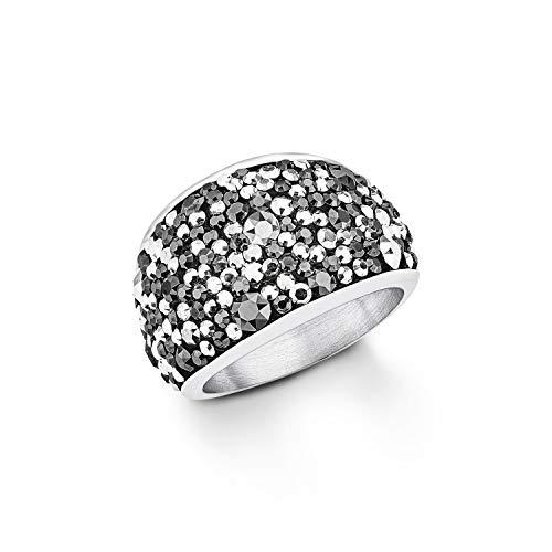S.Oliver Damen Ring mit Swarovski Kristallen Edelstahl