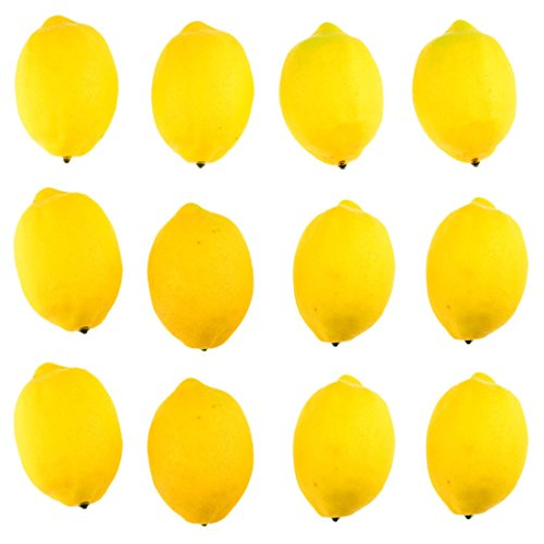 meizhouer 12 Pcs Artificial Lemons Fruit Model Fashion Fake Lemon House Kitchen Party Decoration