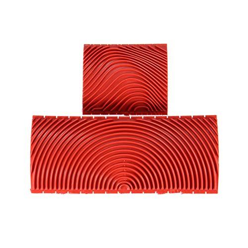 CloverStar - Espátula con efecto madera de vengón de goma para madera, rodillo de madera, herramienta de vetas de madera, pintura DIY para paredes, suelo