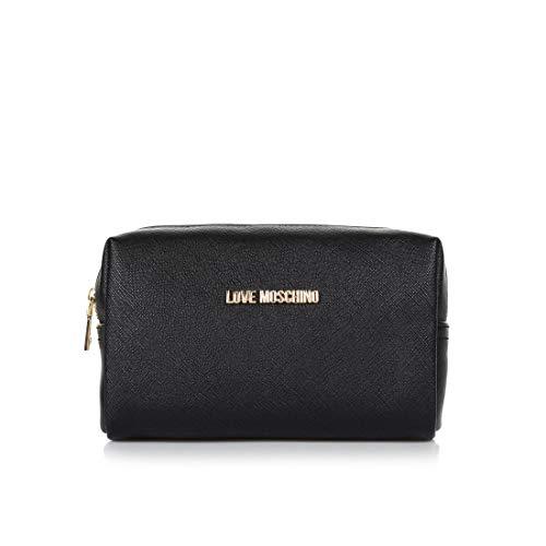Love Moschino Kosmetiktasche mit Logo vorne, 17 x 5 x 12 cm Schwarz Schwarz  18X11X7 CM