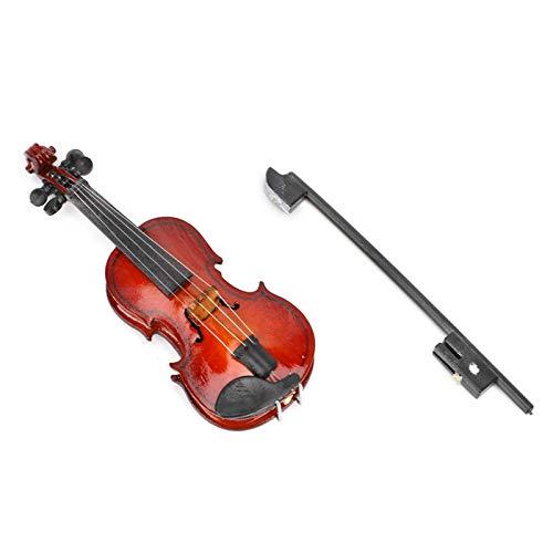 con caja de regalo delicada, modelo de violín, accesorio de decoración, aspecto hermoso, madera de tilo, para sala de estar