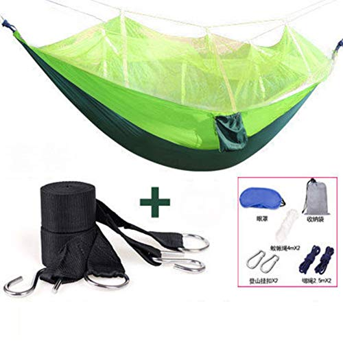 L&WB Camping Hammock, Open Air Swing Breathable Lightweight Bed Portable Nylon Hammock Parachute Camping Hiking Backpacking Hiking,A