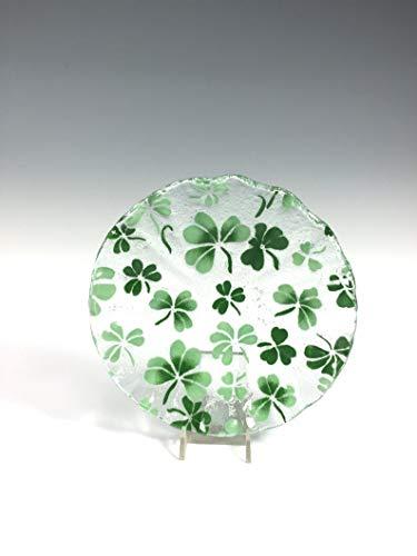 Shamrock Bowl,Celtic, Clover, Irish Decor Fused Glass Dish, Irish Design