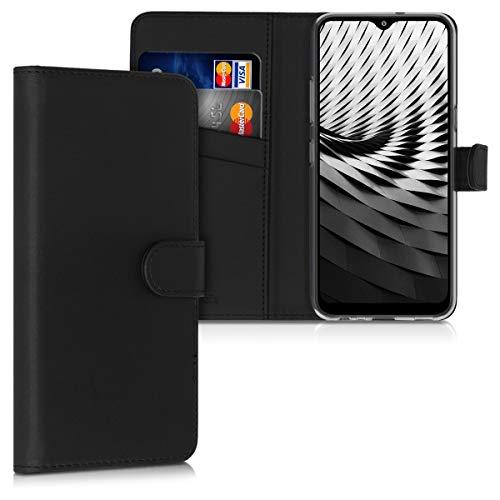 kwmobile Wallet Hülle kompatibel mit LG K41S - Hülle Kunstleder mit Kartenfächern Stand in Schwarz