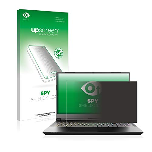 upscreen Privacy Screen Protector compatible with Schenker XMG Pro 15' - Anti-Spy Screen Protection
