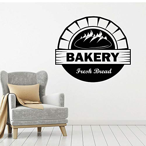 Brot Backofen Bäckerei Wandaufkleber Bäckerei gebackenes frisches Brot bieten Wandtattoo abnehmbare Raumdekoration Wandbild Poster42 * 45cm