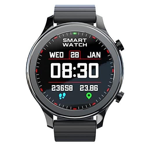 Ake Moda Smart Watch Llamada de Bluetooth Contestación de Fitness Tracker Smart Watch Monitor de frecuencia cardíaca para Hombres para Android iOS,B