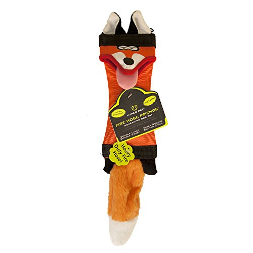Hyper Pet Fire Hose Friends Fox Dog Toy, Orange
