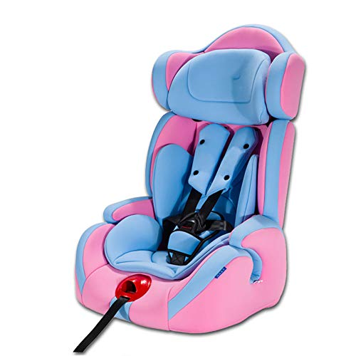 WWLONG Cómodo Asiento de automóvil para niño/niño, Asiento de Seguridad para niños con Interfaz Suave isofix para automóvil, Asientos de Coche para niños Menores de 12 años, 9-36 kg niña, Rosa-NOI