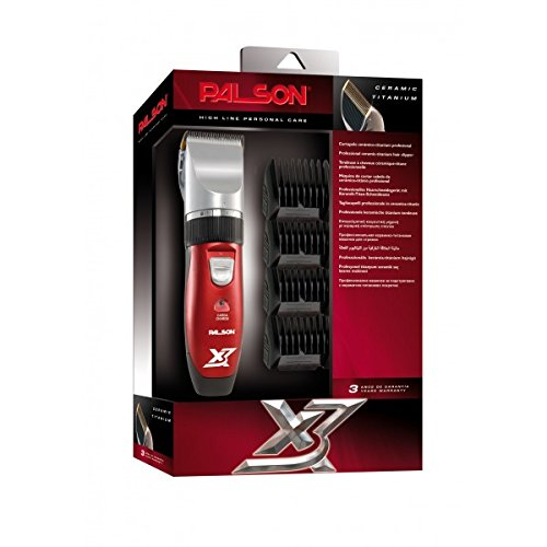 Palson Titanium X3 - Cortapelo recargable, color rojo