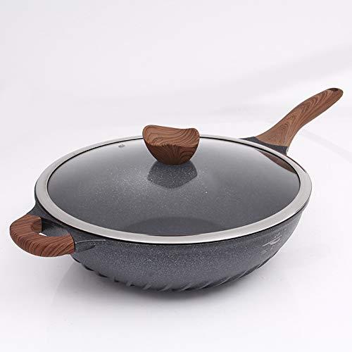 WM Antihaft-Pfanne Keramikbeschichtete Wok-Pfanne mit Deckel Anti-Kratz-Induktionspfanne Pfannkuchenpfanne Steak-Bratpfanne