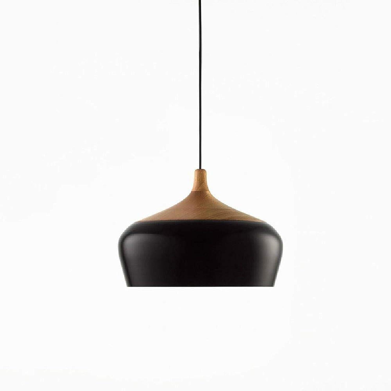 Kronleuchter Nordic Minimalist Designer LED Kronleuchter Schlafzimmer Wohnzimmer Arbeitstisch Anhnger Kette  1m (verstellbar) (Farbe  Schwarz-Durchmesser 35cm)