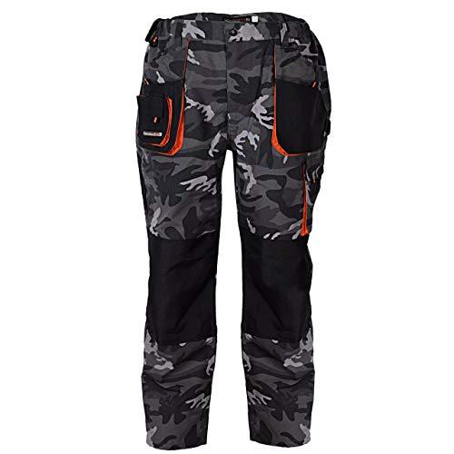 Terratrend Job 3230-52-6210 Herren Hose Größe 52 in Camouflage/grau/schwarz