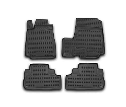 V-MAXZONE PARTS Juego de alfombrillas de goma negra TPE VD494 para todo tipo de clima, sin olor, alfombrillas de coche, 4 piezas, compatible con Honda CR-V III 2007 2008 2009 2010 2011 2012